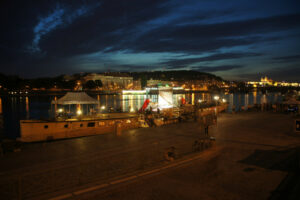 (A)void Floating Gallery located at Rašínovo Embankment